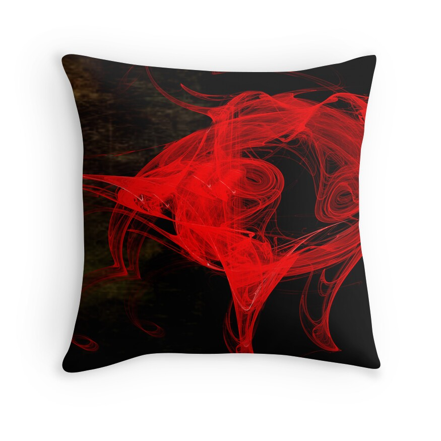 el toro rojo throw pillows by ronny falkenstein 2 redbubble. Black Bedroom Furniture Sets. Home Design Ideas
