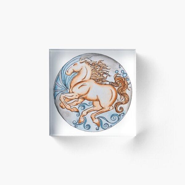 Horse Mandala Acrylic Block