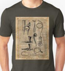 Vintage Medical Kits,Ear Instruments,Surgery Decoration,Dictionary Art,Zombie Apocalypse,Halloween,Card,Gift Unisex T-Shirt