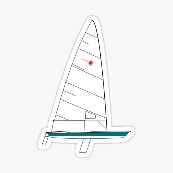 Laser Sailboat Sticker
