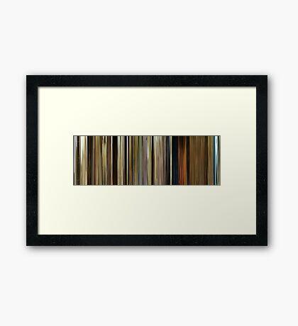 Moviebarcode: O Brother, Where Art Thou? (2000) Framed Print