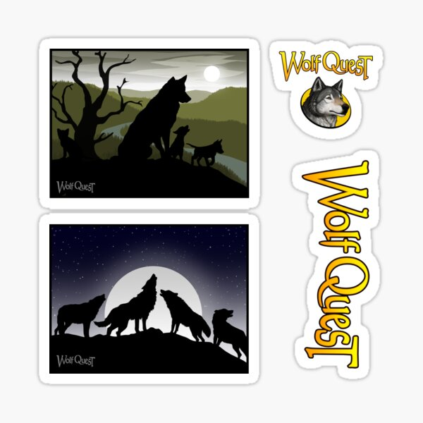 Family Pack (set of 2 dreams + 2 logos) - WolfQuest Dreams Sticker