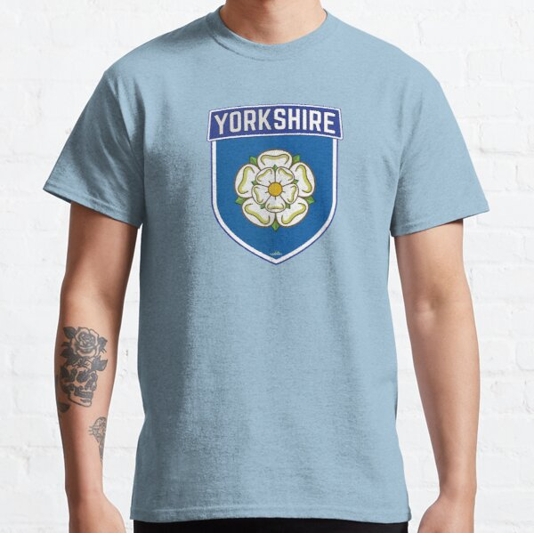YORKSHIRE County Shield White Rose of York England Sticker Style 1 Classic T-Shirt
