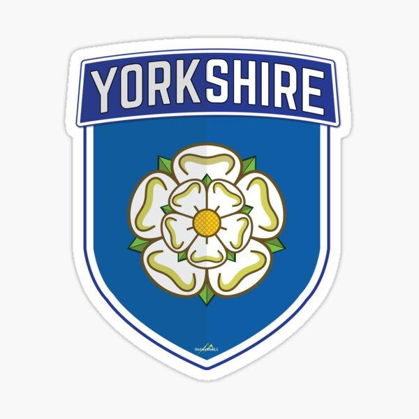 YORKSHIRE County Shield White Rose of York England Sticker Style 1 Sticker