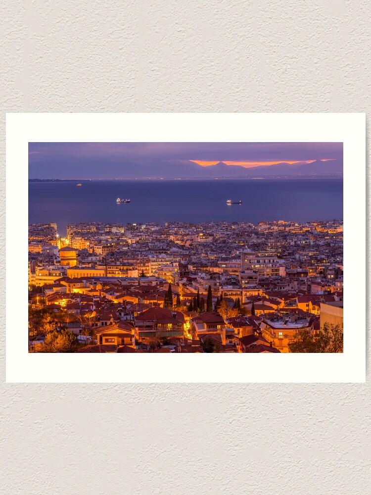Alternate view of Thessaloniki, Greece Art Print