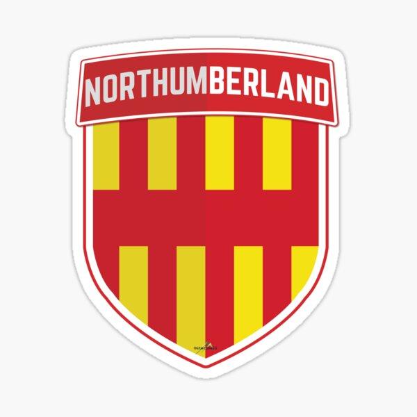 NORTHUMBERLAND Britain England Shield Flag UK Sticker & T-Shirt 1 Sticker
