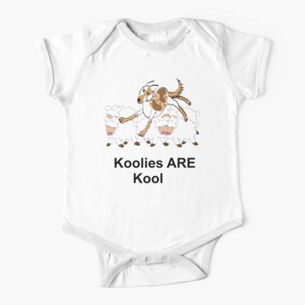 Koolie on sheep over Koolies are Kool T Short Sleeve Baby One-Piece