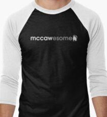 McCawesome White/Grey Men's Baseball ¾ T-Shirt