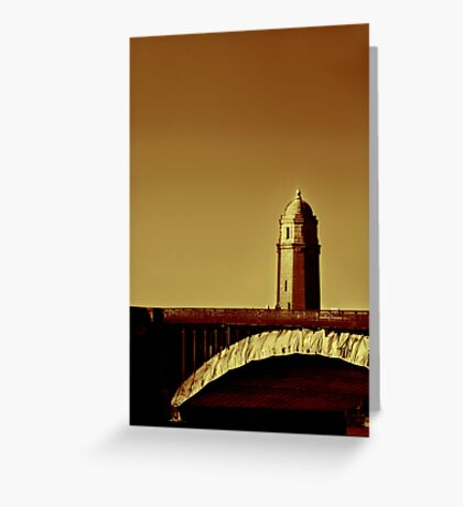 A Bridge of Two Cities Greeting Card