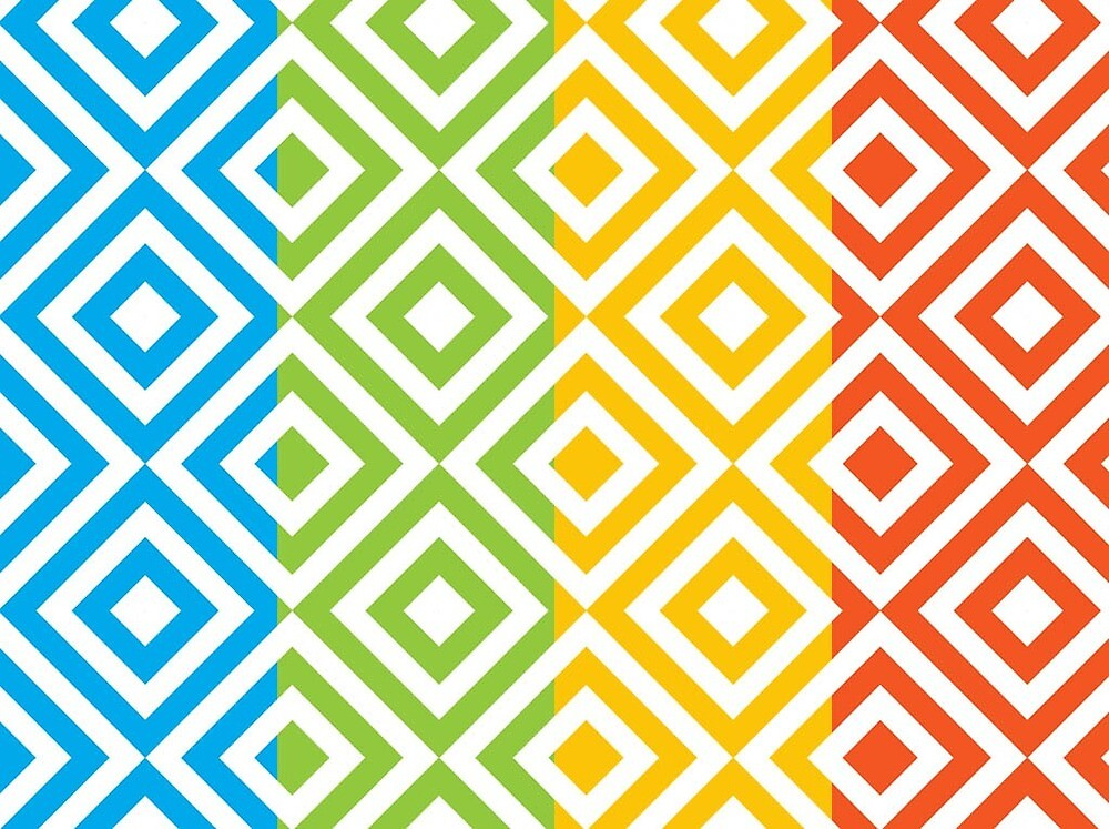 rainbow chevron pattern  by Orly Gonsalves