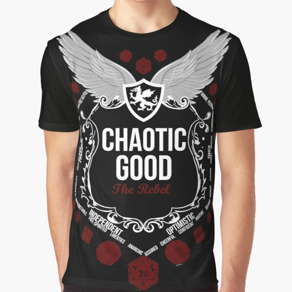 Chaotic Good - Black: Alignment Series Graphic T-Shirt