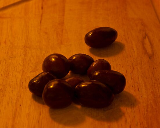 Chocolate Covered Almonds  by Phil Campus