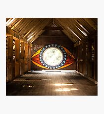 """""""All seeing Eye"""" Abandoned Factory Photographic Print"""