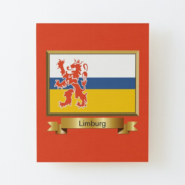 Limburg Flag Stickers, Gifts and Products Wood Mounted Print