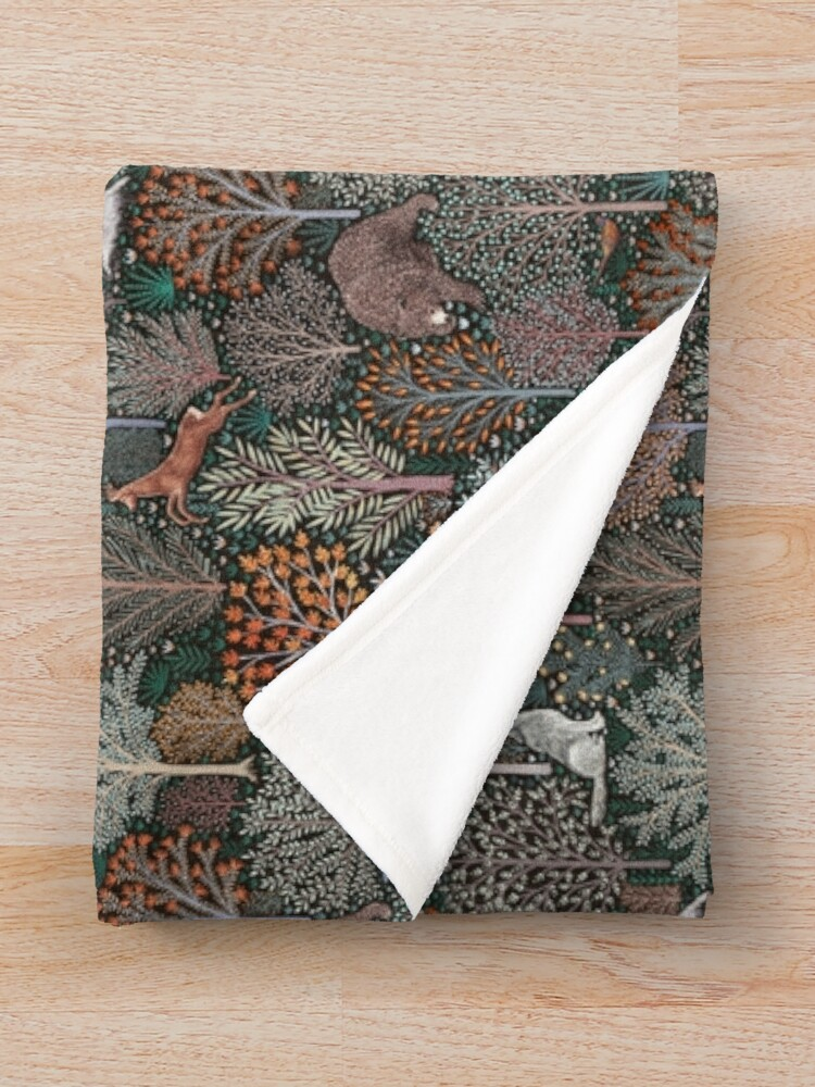Alternate view of Forest animals - les animaux de la fôret Throw Blanket
