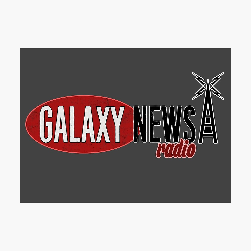 Galaxy Nachrichten Radio Logo Fotodruck