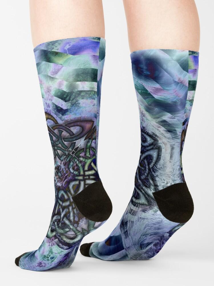 Alternate view of Celtic Star Socks