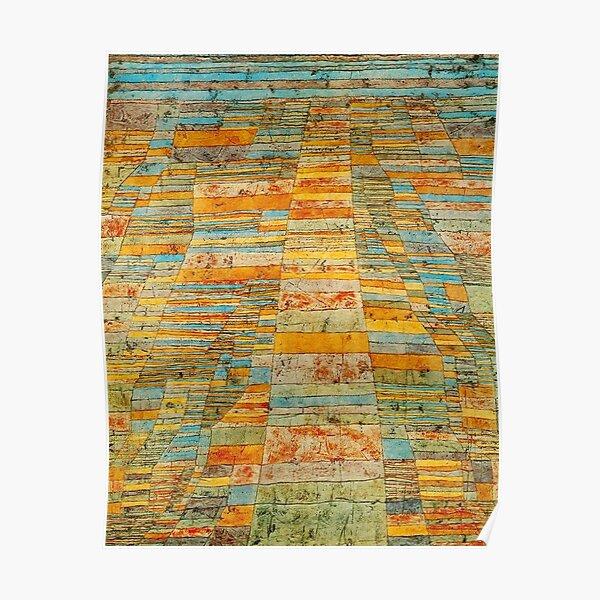 Paul Klee. Autoroute et routes. Poster