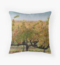 Grape Vines after Autumn Rain Throw Pillow