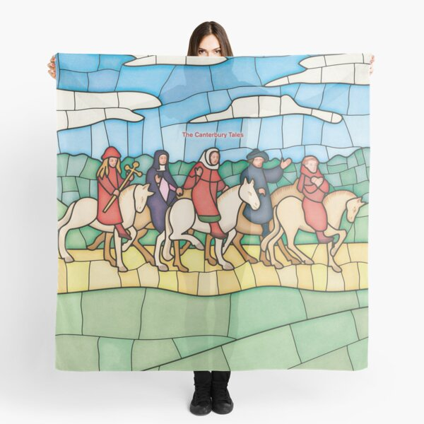 The Canterbury Tales - Geoffrey Chaucer Literary Art for Bibliophiles, Readers and Writers Scarf