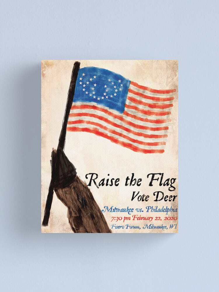 Alternate view of Raise the Flag Canvas Print