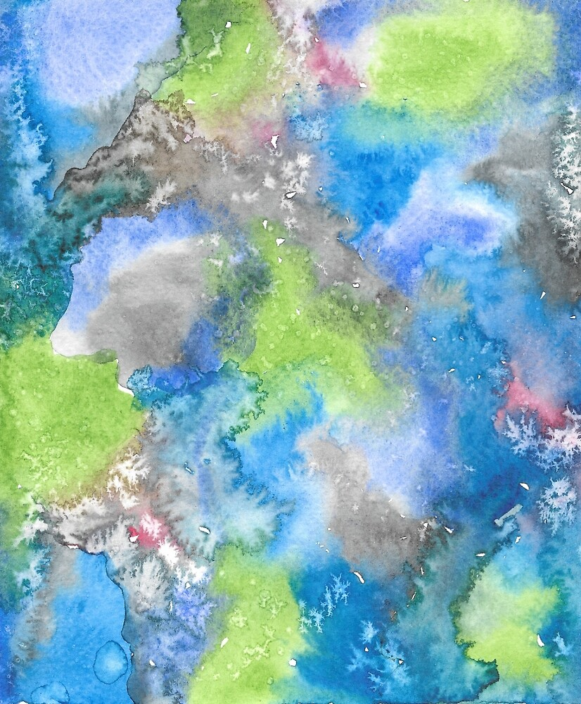 Painted Galaxy Water color Print by PinkPrintDesign
