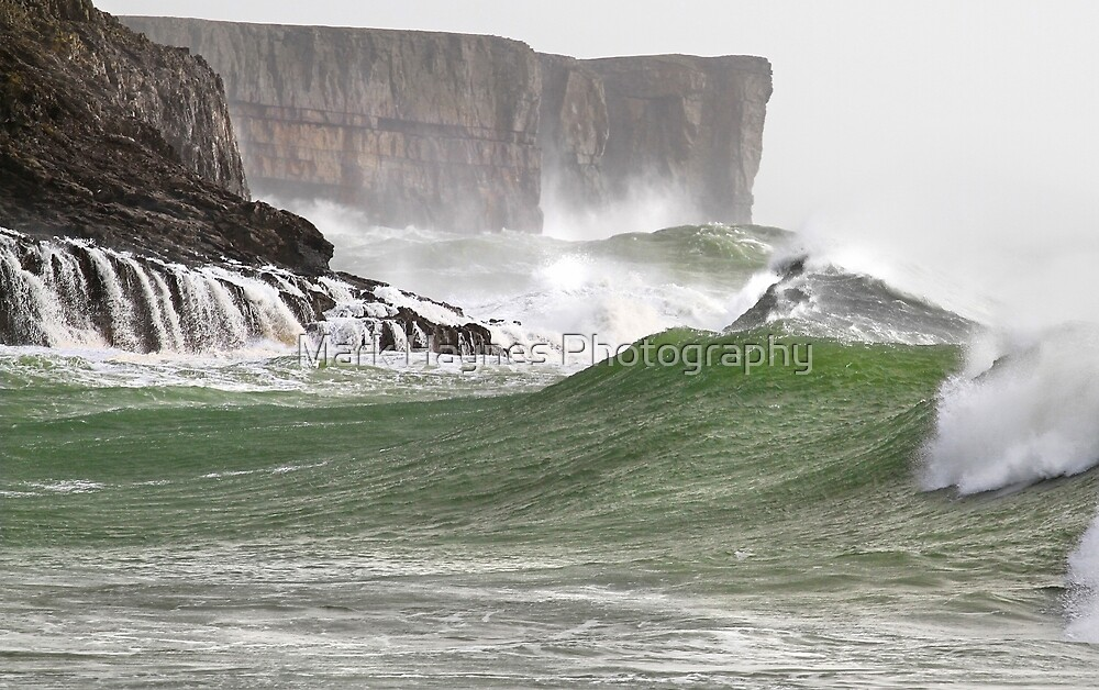Ground Swell - Below Stackpole Head by Mark Haynes Photography