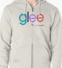 Glee by Brittany  Zipped Hoodie