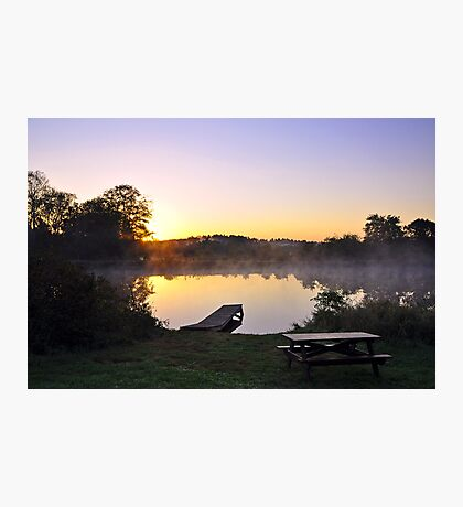 Sunrise at the Pond  Photographic Print