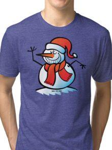 Grinning Snowman Tri-blend T-Shirt