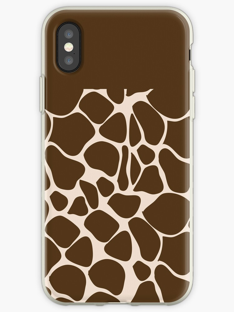 Giraffe Print Animal Pattern iPhone Case by JessDesigns
