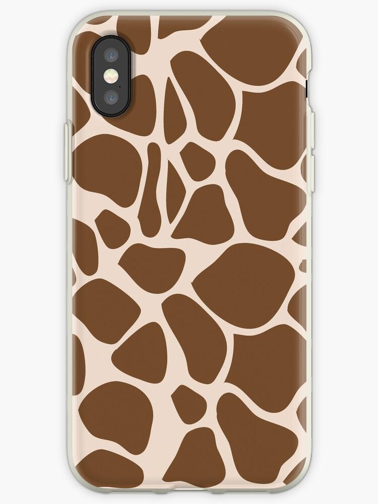 Giraffe Print Trendy iPhone Case by JessDesigns