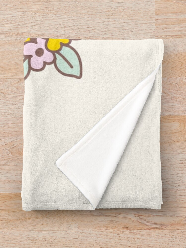 Alternate view of Bubu the Guinea Pig, Easter Guinea Pig in Bunny Costume  Throw Blanket