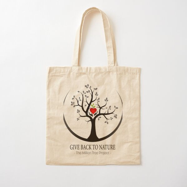 Give Back to Nature Small Logo - For Light Backgrounds Cotton Tote Bag
