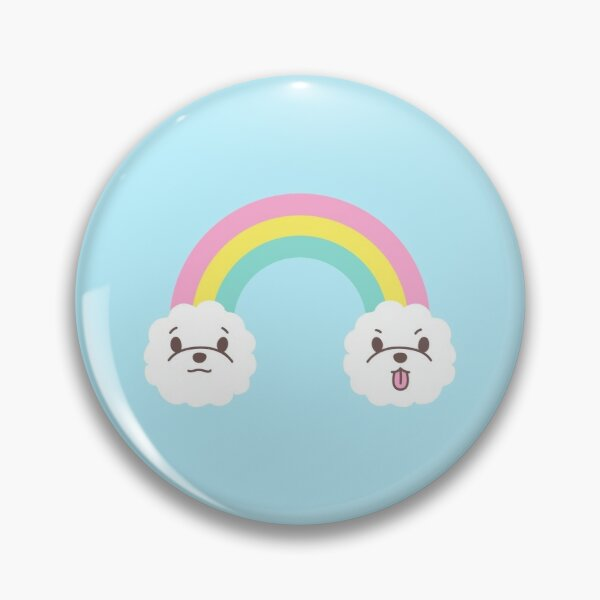 Rainbow Bichon  Pin