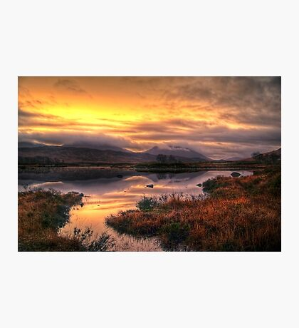 Golden Sunrise Over Loch Ba Photographic Print