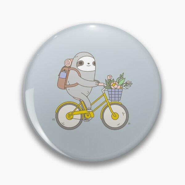 Biking Sloth  Pin