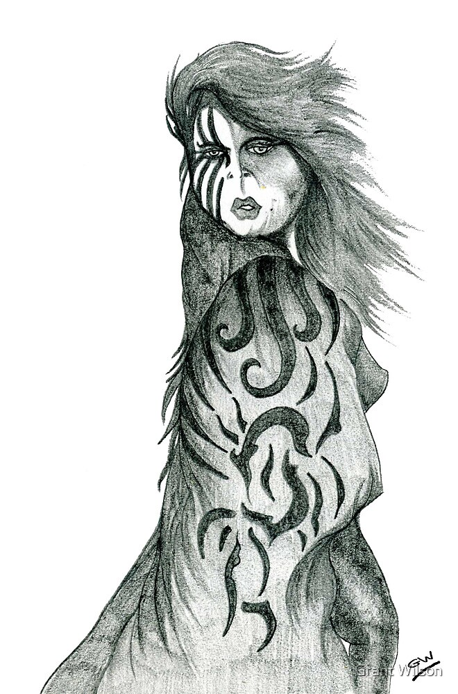 Pencil Cloak Woman by Grant Wilson