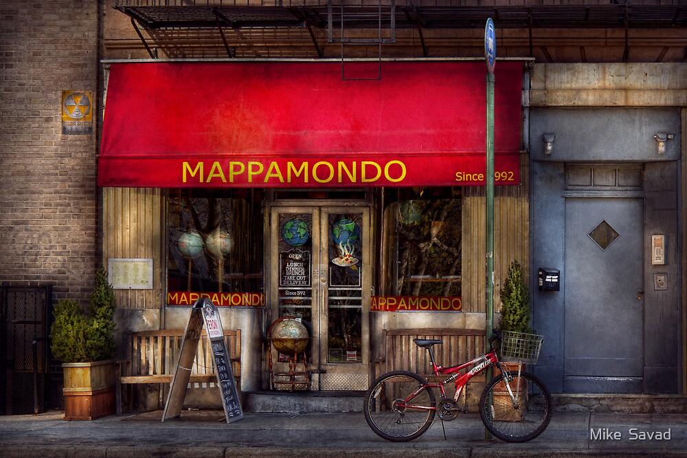 Cafe - NY - Chelsea - Mappamondo  by Michael Savad