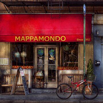 Cafe - NY - Chelsea - Mappamondo  by mikesavad