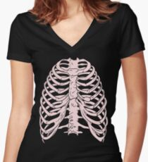 Ribs 3 Women's Fitted V-Neck T-Shirt