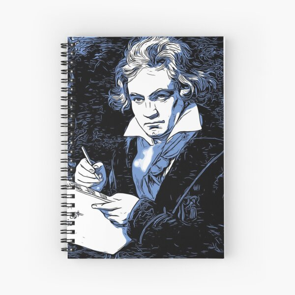 Ludwig van Beethoven, in Classic Blue 2020 Color of the Year Spiral Notebook