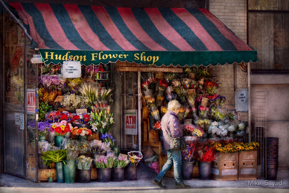 Flower Shop - NY - Chelsea - Hudson Flower Shop  by Michael Savad