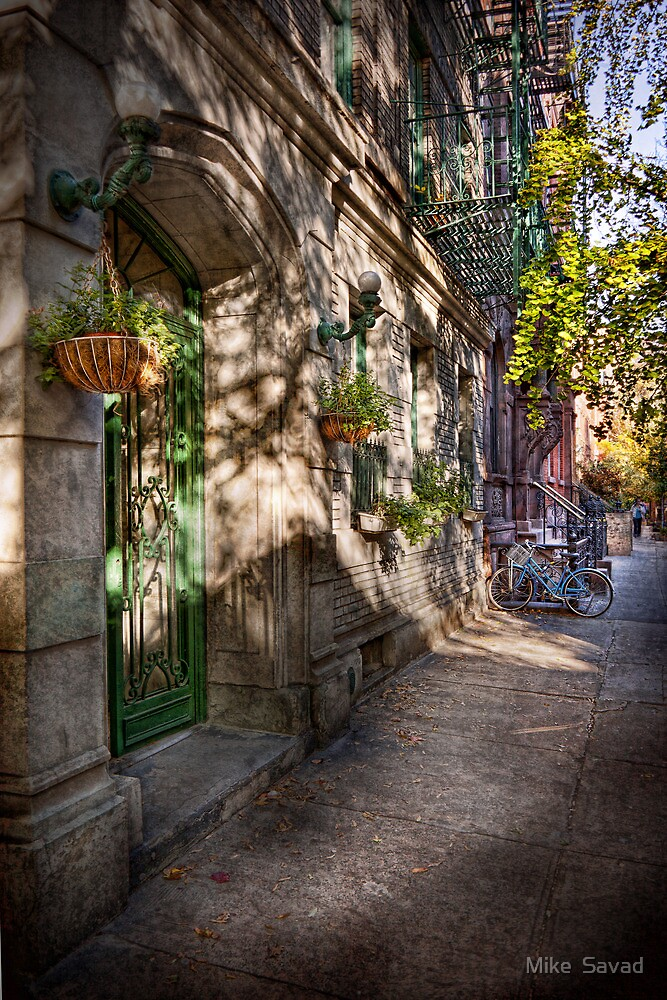 Bike - NY - Greenwich Village - The green district by Michael Savad