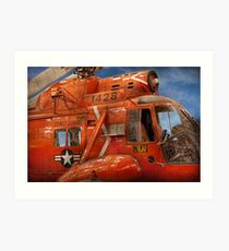 Transportation - Helicopter - Coast guard helicopter Art Print