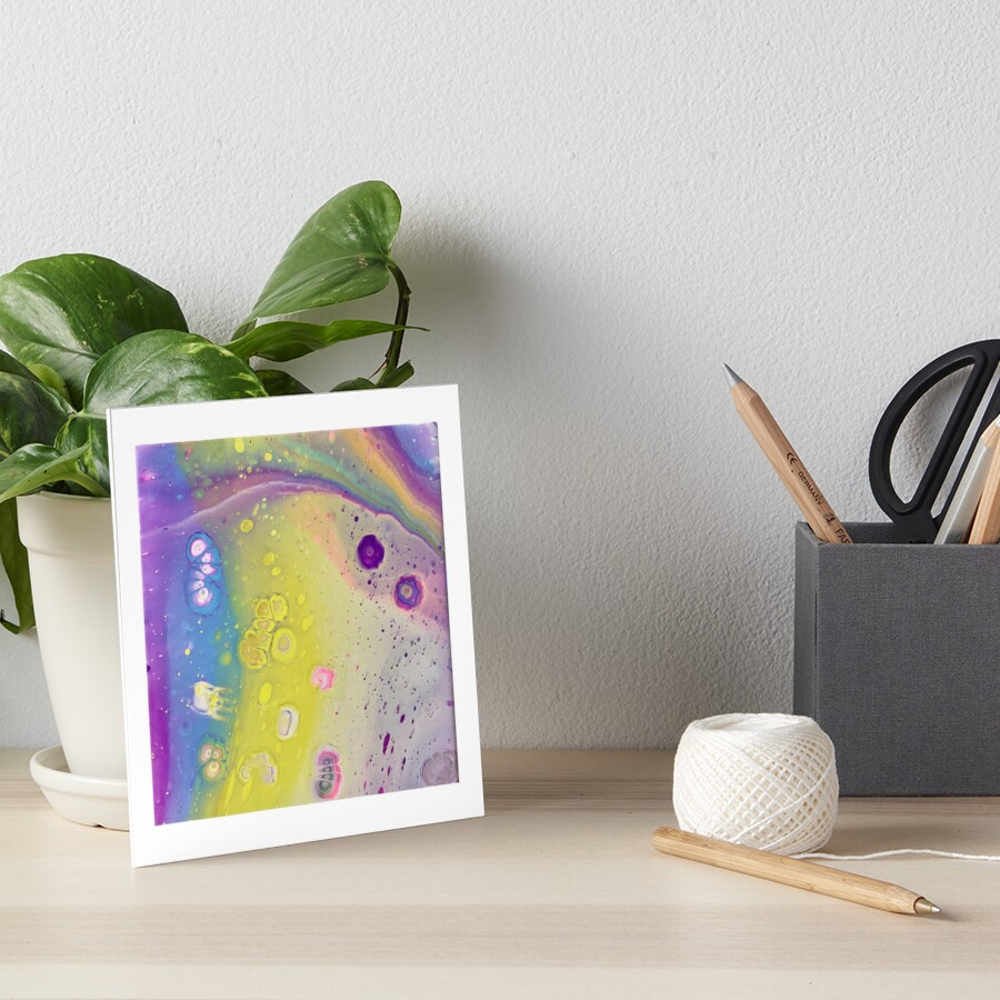 Outer Space Girl Art Board Print
