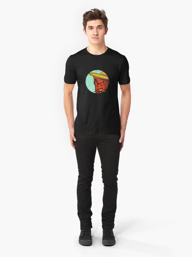 Alternate view of Red Brick in a circle Slim Fit T-Shirt
