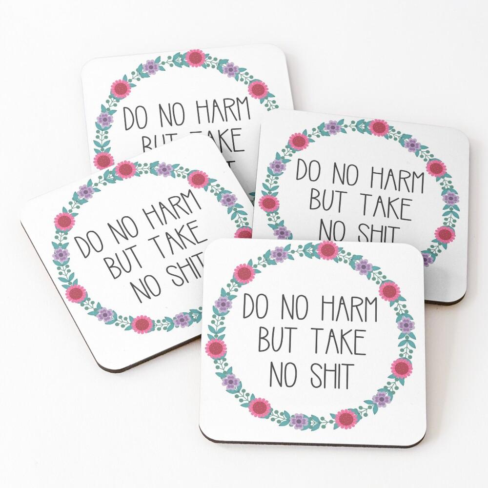 Do No Harm But Take No Shit Coasters (Set of 4)