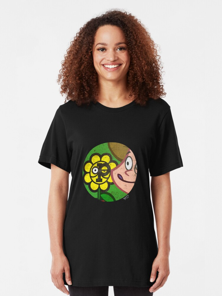 Alternate view of Pfride logo with Mom in a circle Slim Fit T-Shirt