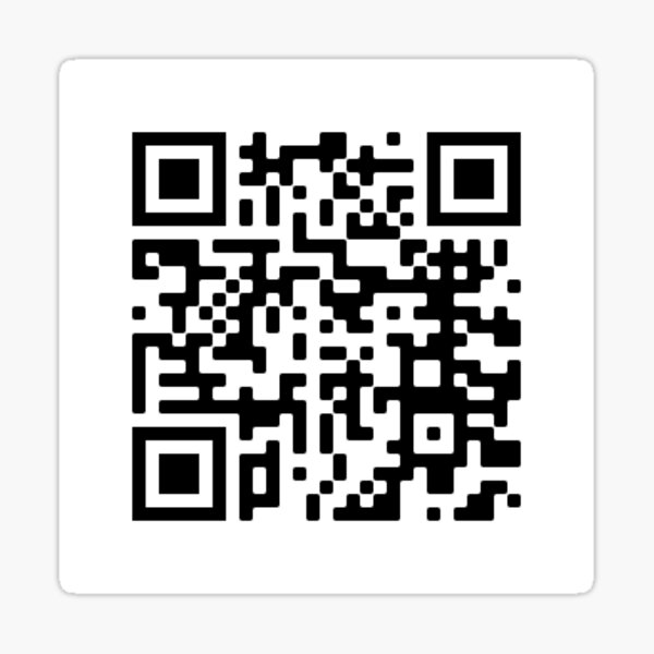 Bts Fake Love Song Roblox Id Bts Qr Code Of Bts Song Black Swan Sticker By Zoejanee Redbubble